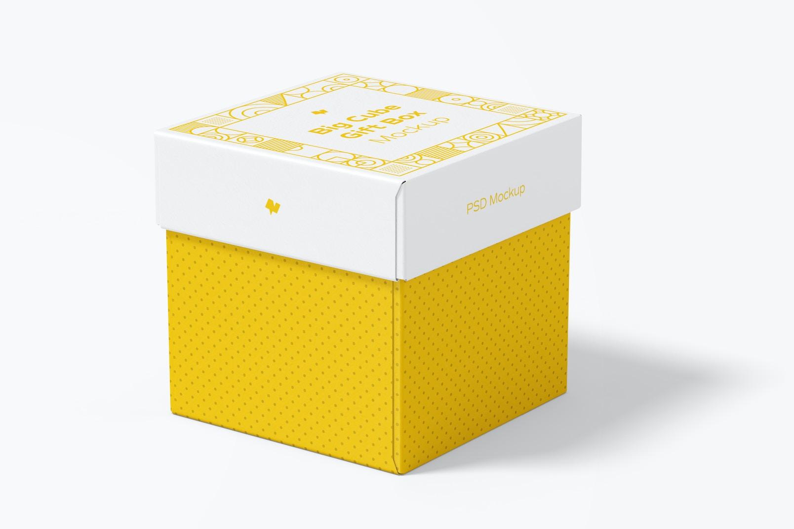 Big Cube Gift Box Mockup