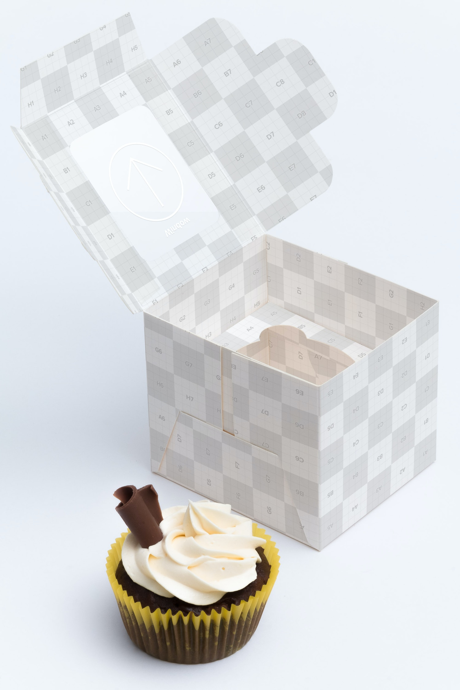 One Cupcake Box Mockup 02