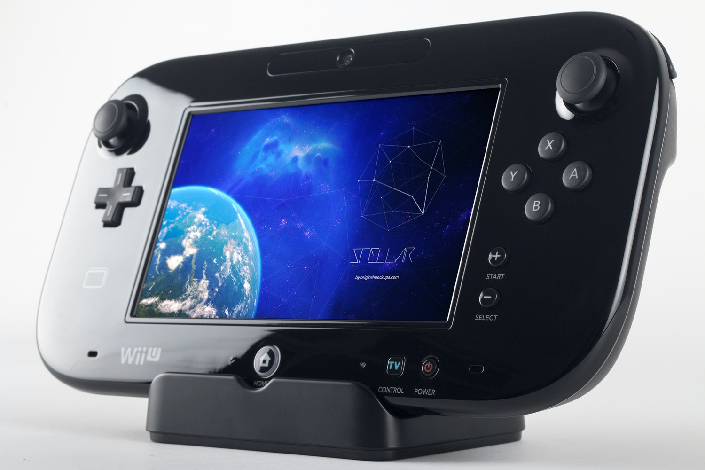 Wii U Deluxe Gamepad Mockup 02 por Original Mockups en Original Mockups