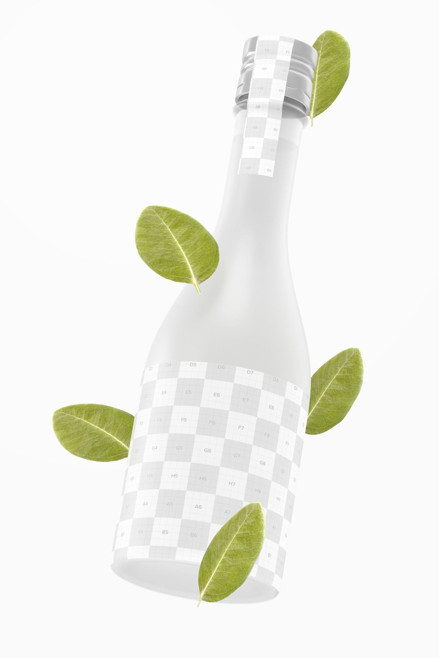 Sake Bottle Mockup, Floating