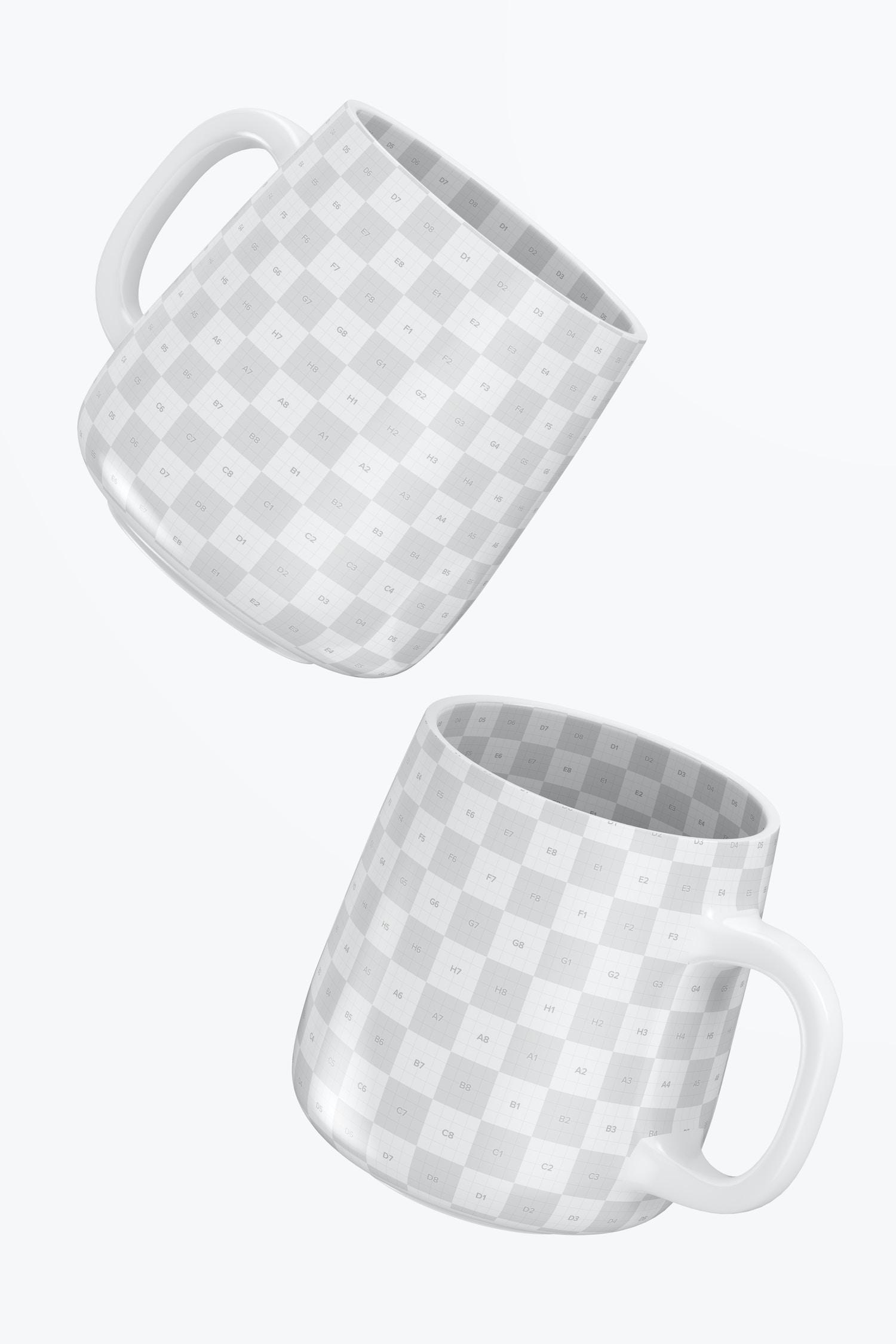 12.2 oz Ceramic Mug Mockup, Floating