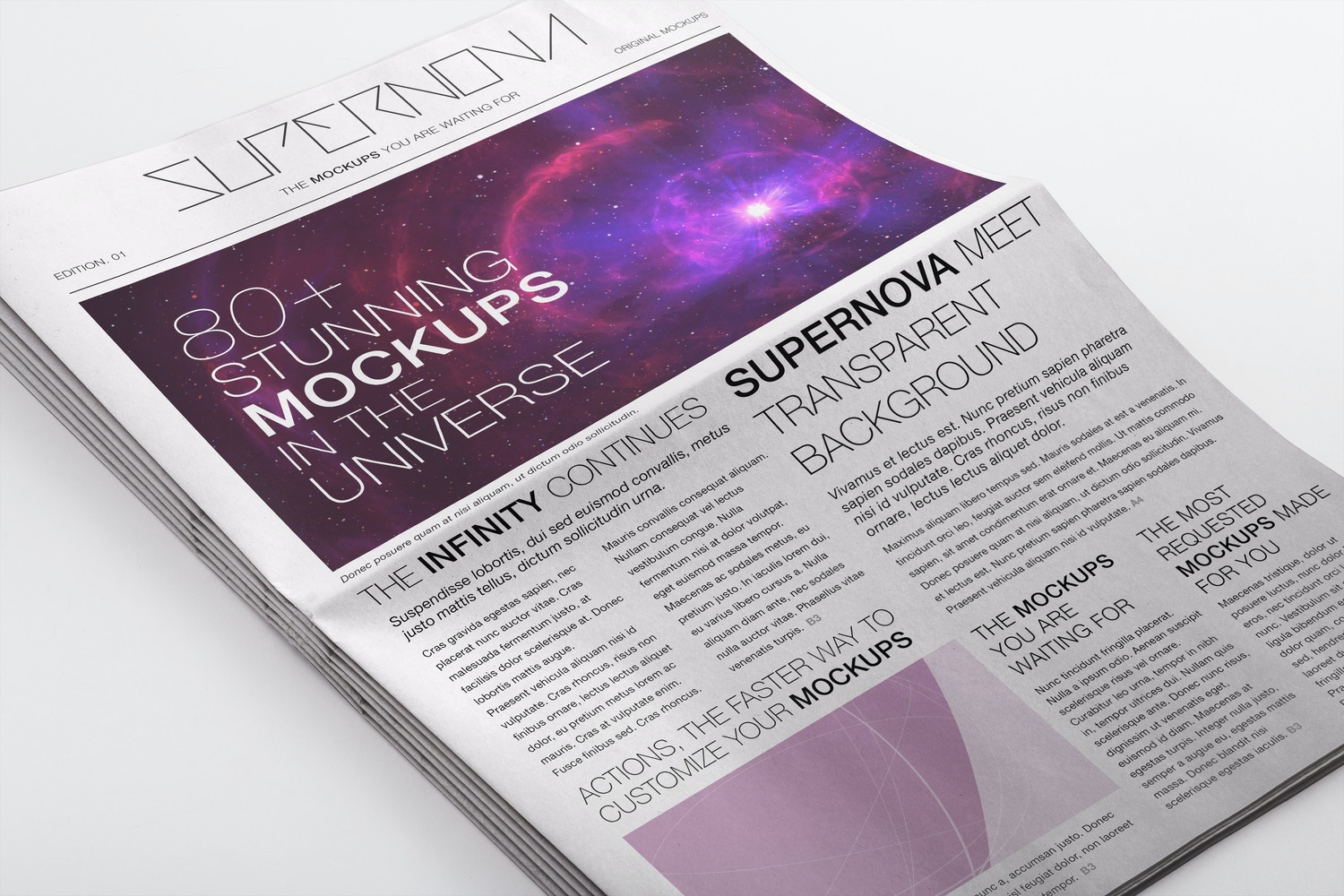 Newspaper PSD Mockup 03 by Original Mockups on Original Mockups