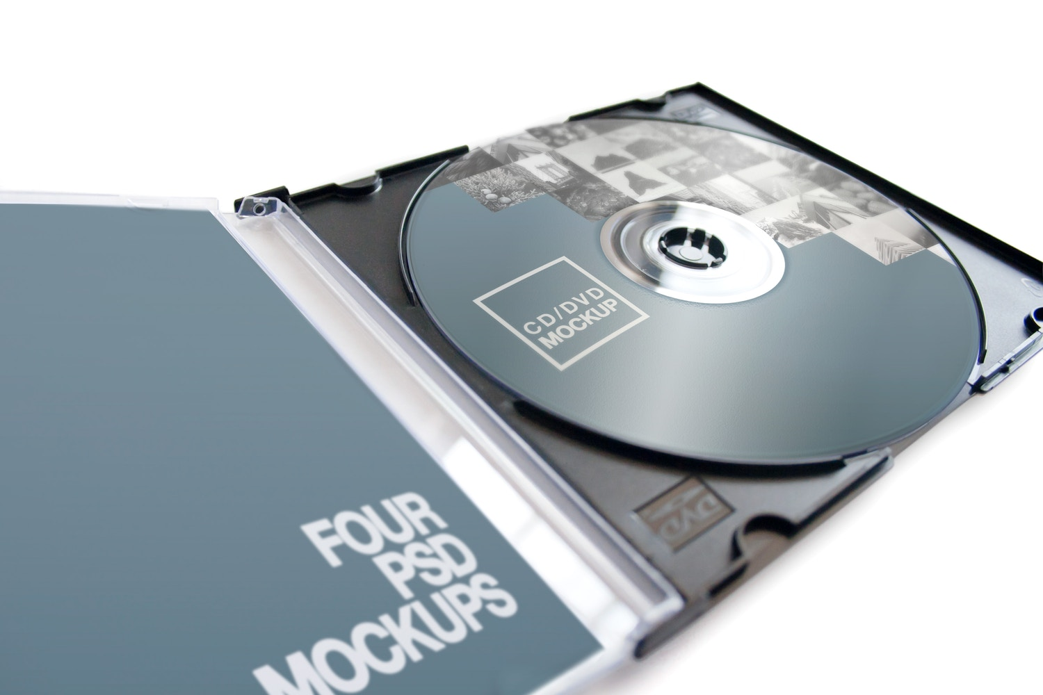 CD-DVD Jewel Case Opened Mockup 01 by Carlos Viloria on Original Mockups