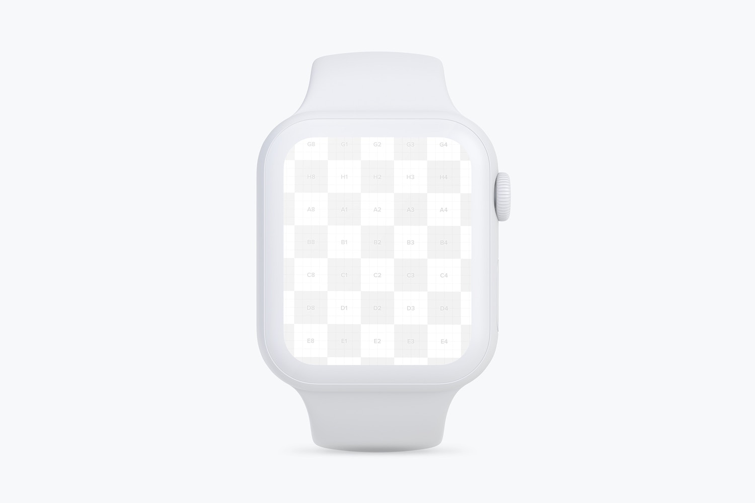 Clay Apple Watch Series 4 (44mm) Mockup, Front View (1) by Original Mockups on Original Mockups