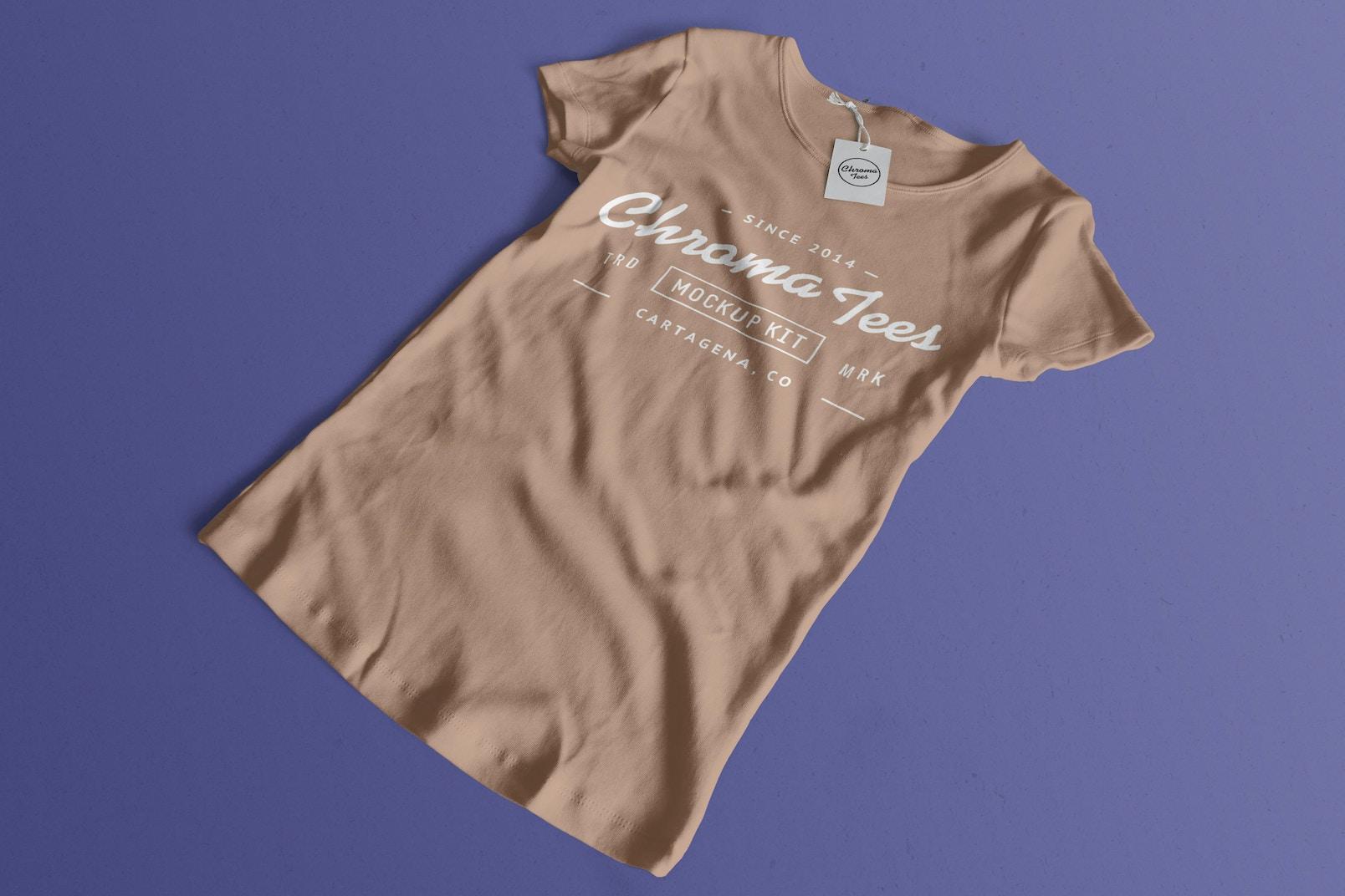 Woman Front T-Shirt Mockup 02