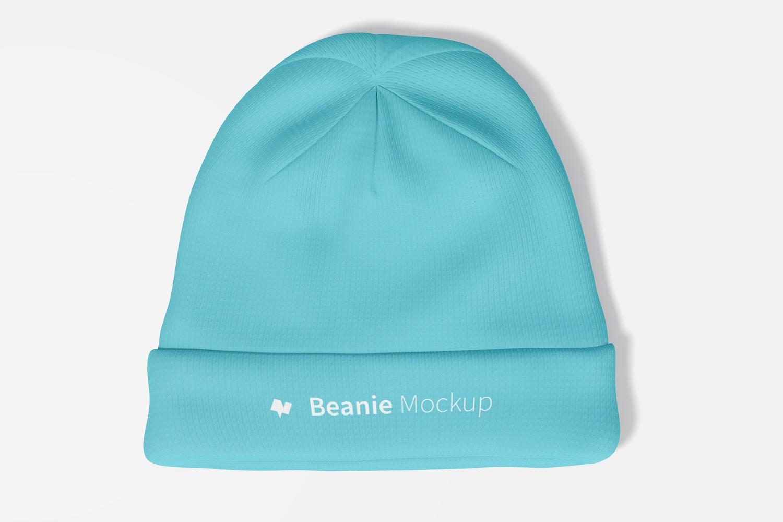 Beanie Mockup, Top View