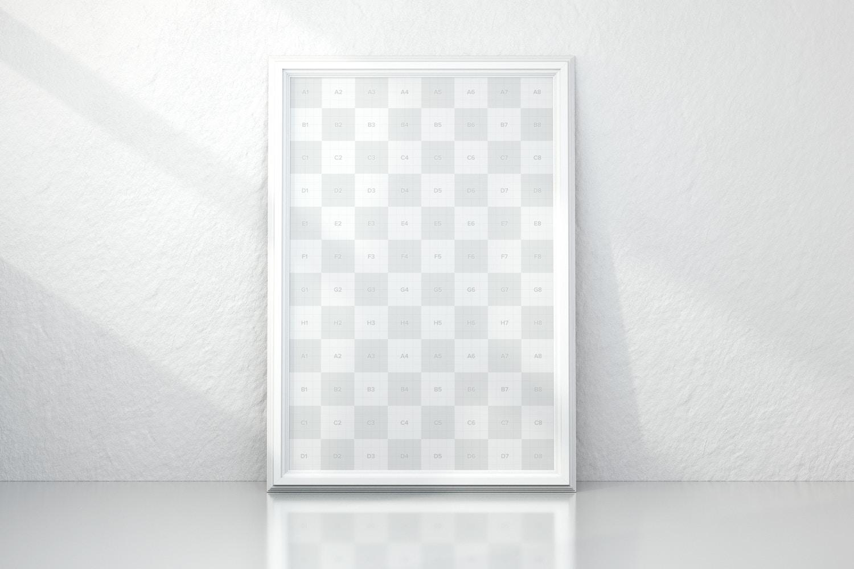 Maqueta de Lona Vertical Enmarcado