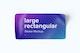 Large Rectangular Sticker Mockup, Top View