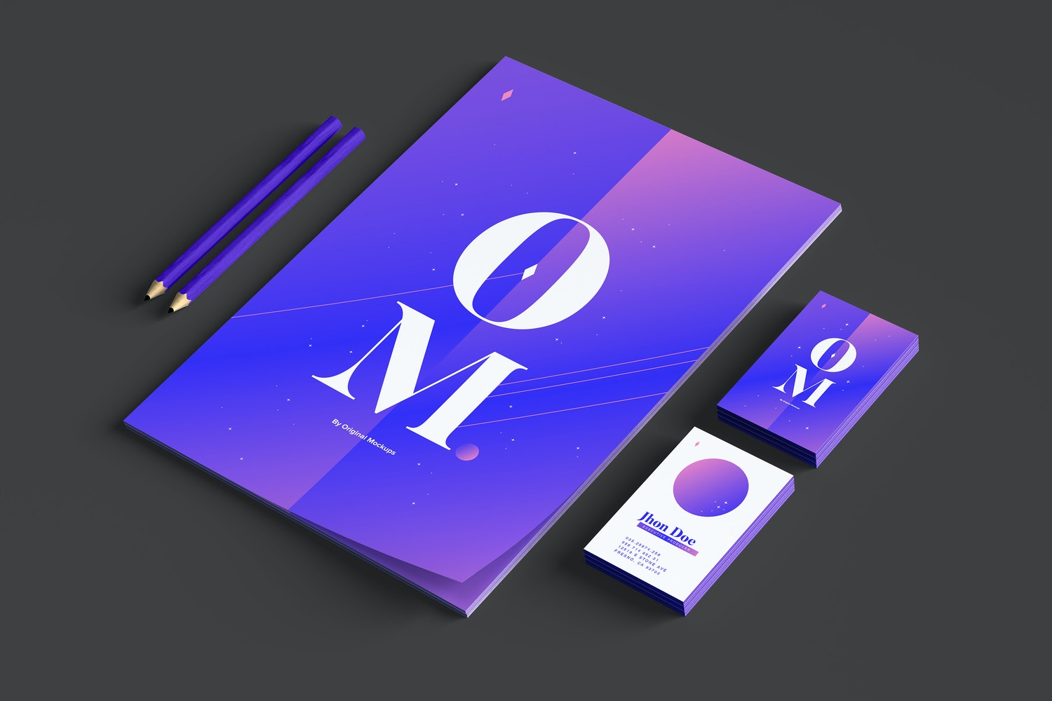 You can change the color of the thickness of the paper and also the color of the pencils, in this way you can create more realistic presentations.