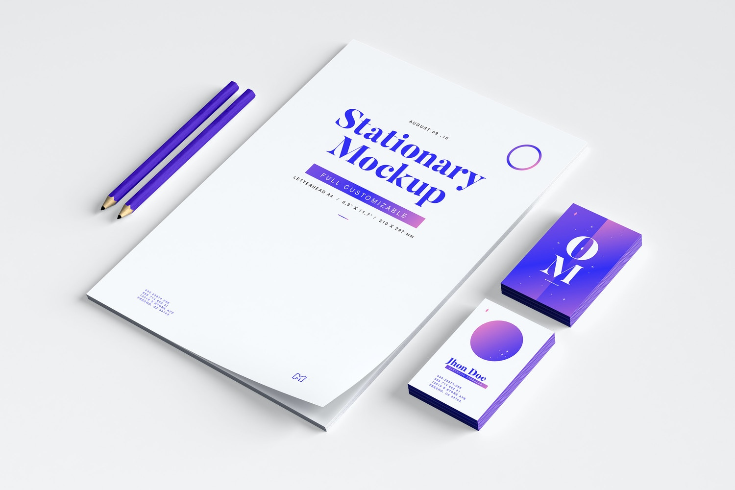 Stationery Mockup 03 by Original Mockups on Original Mockups