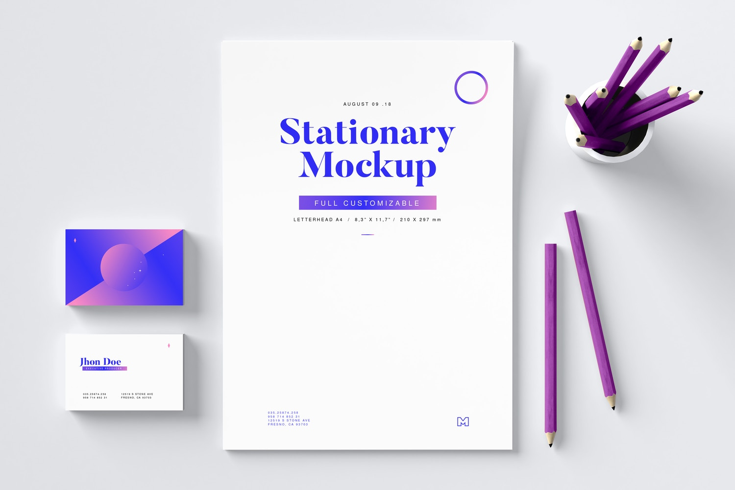 Stationery Mockup 02 by Original Mockups on Original Mockups