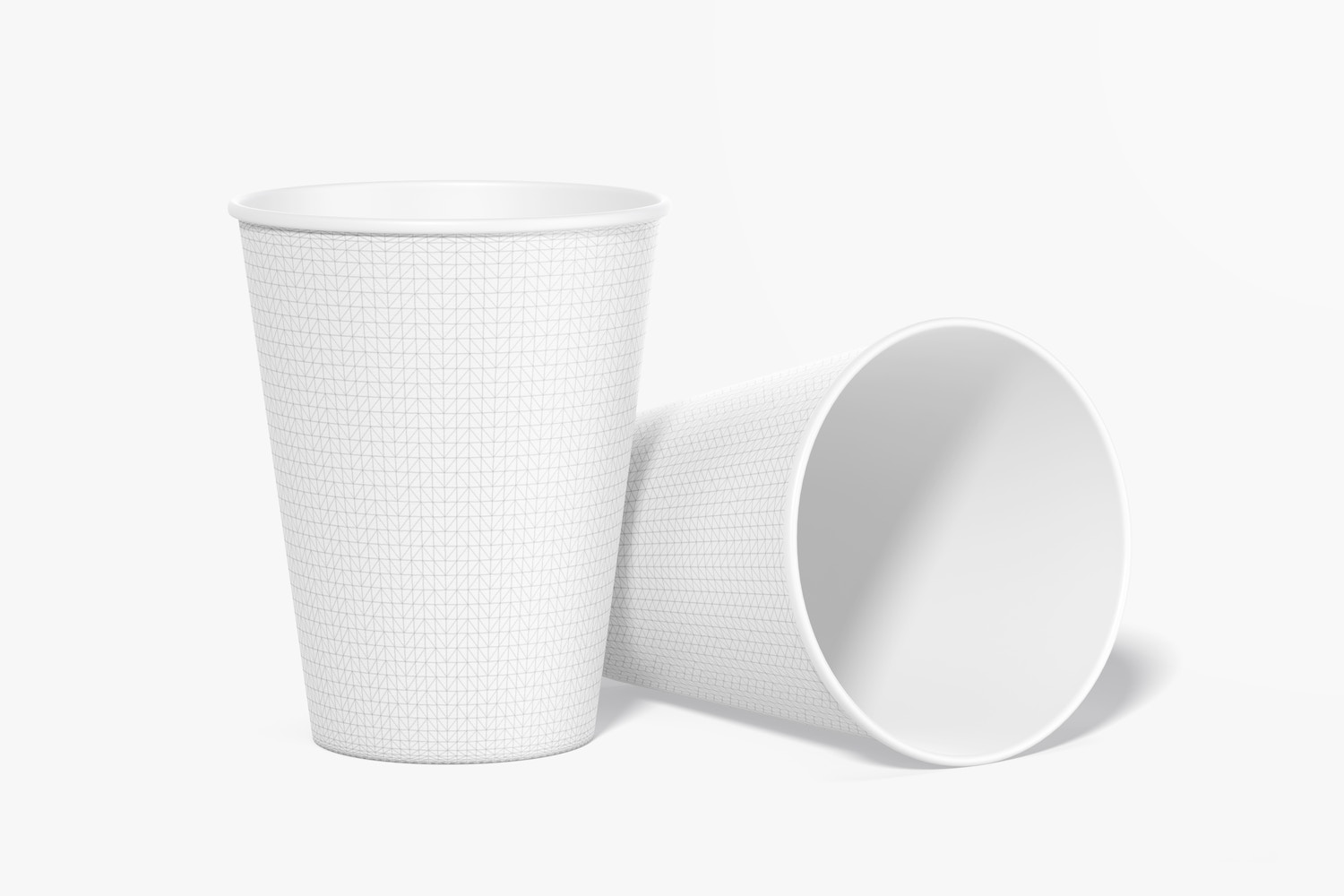 Paper Cups Mockup, Dropped