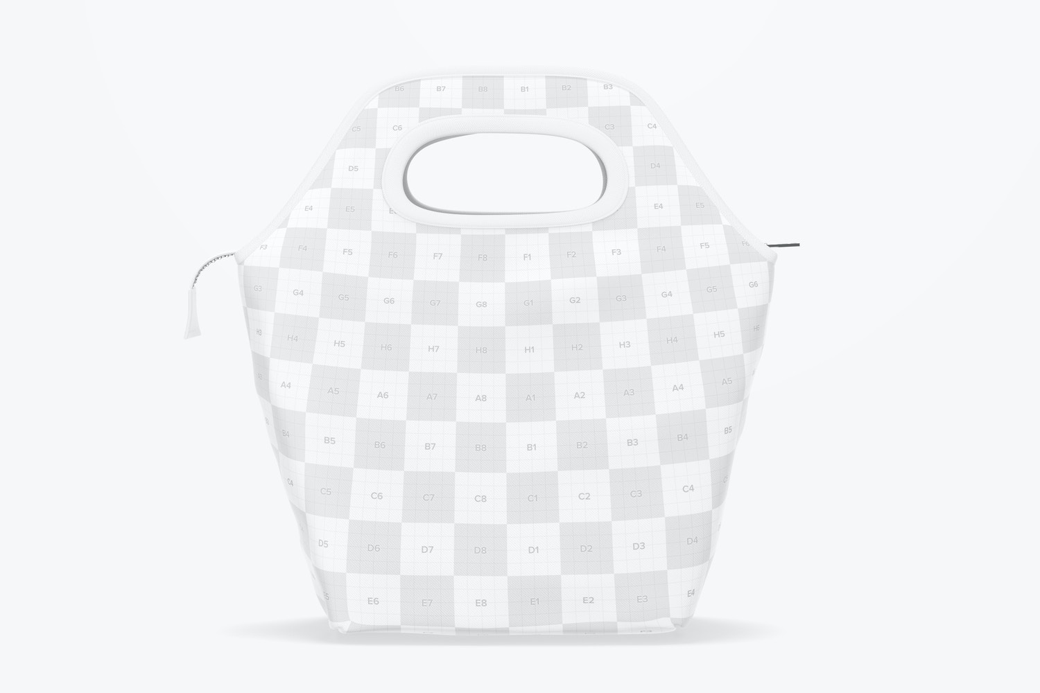 Lunch Bag Mockup, Front View