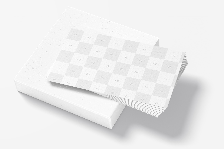 US Landscape Business Cards Mockup, Stacked Set