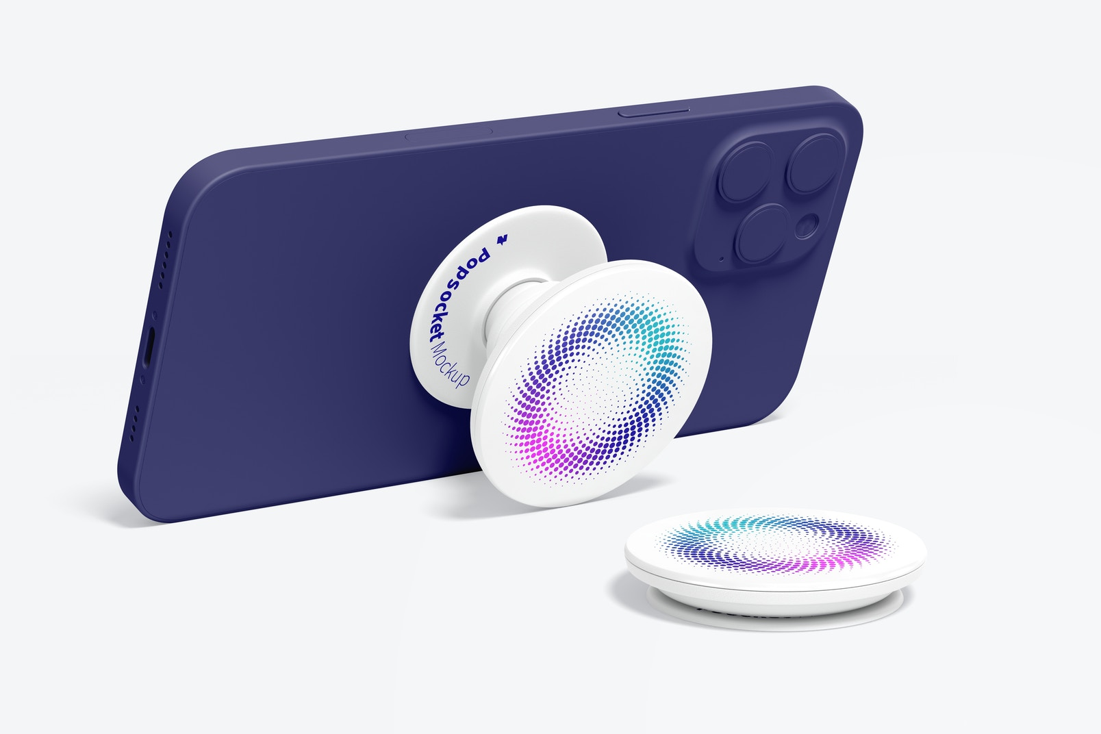 Popsockets Mockup with Phone
