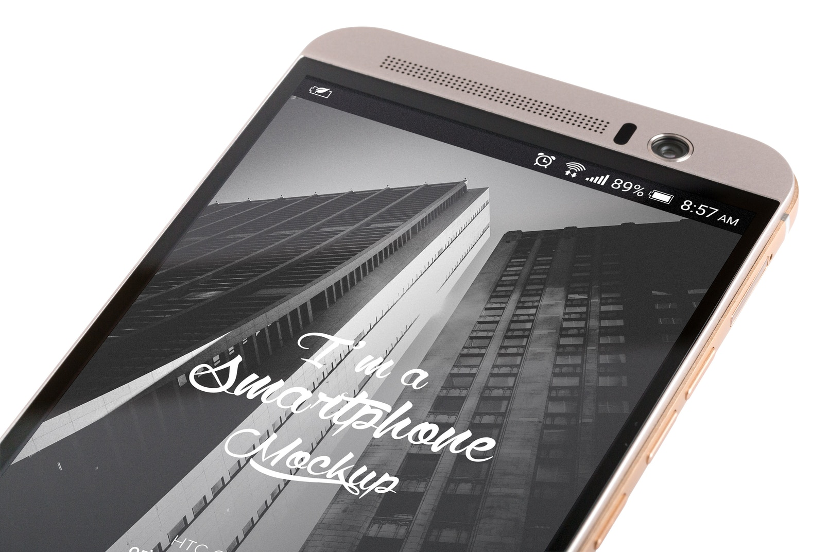 HTC One M9+ PSD Mockup 05