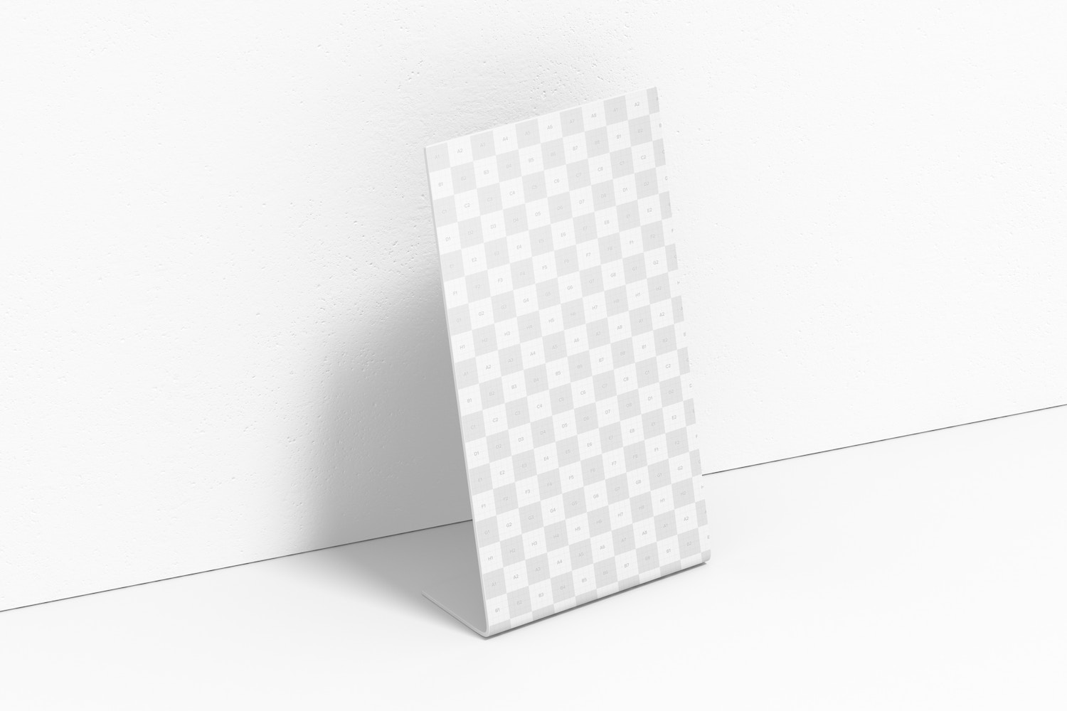 Acrylic Table Tent Mockup, Left View