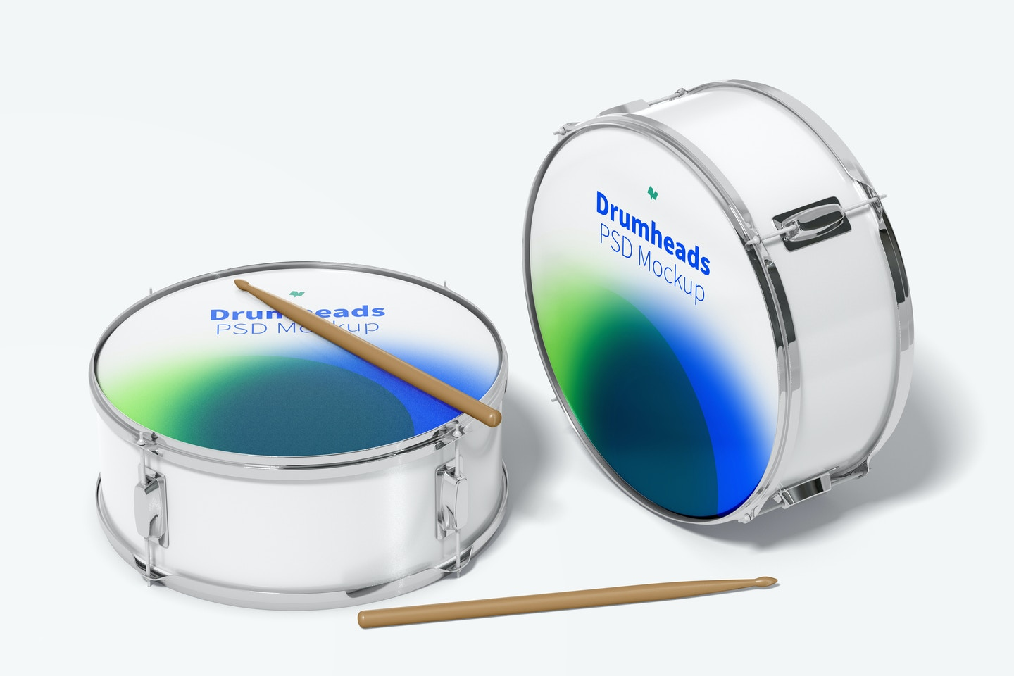 Drumheads Mockup, Perspective