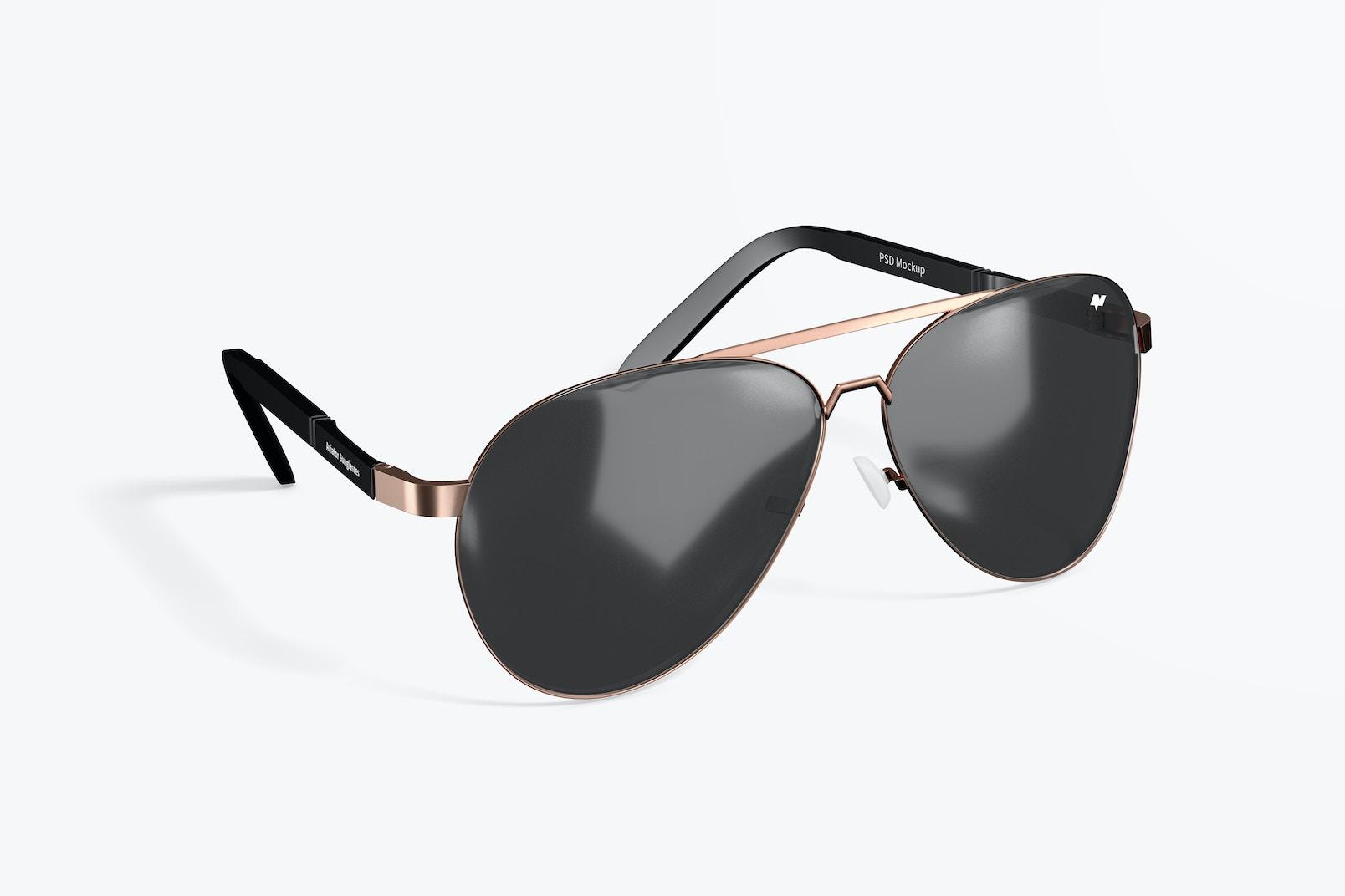 Aviator Sunglasses Mockup
