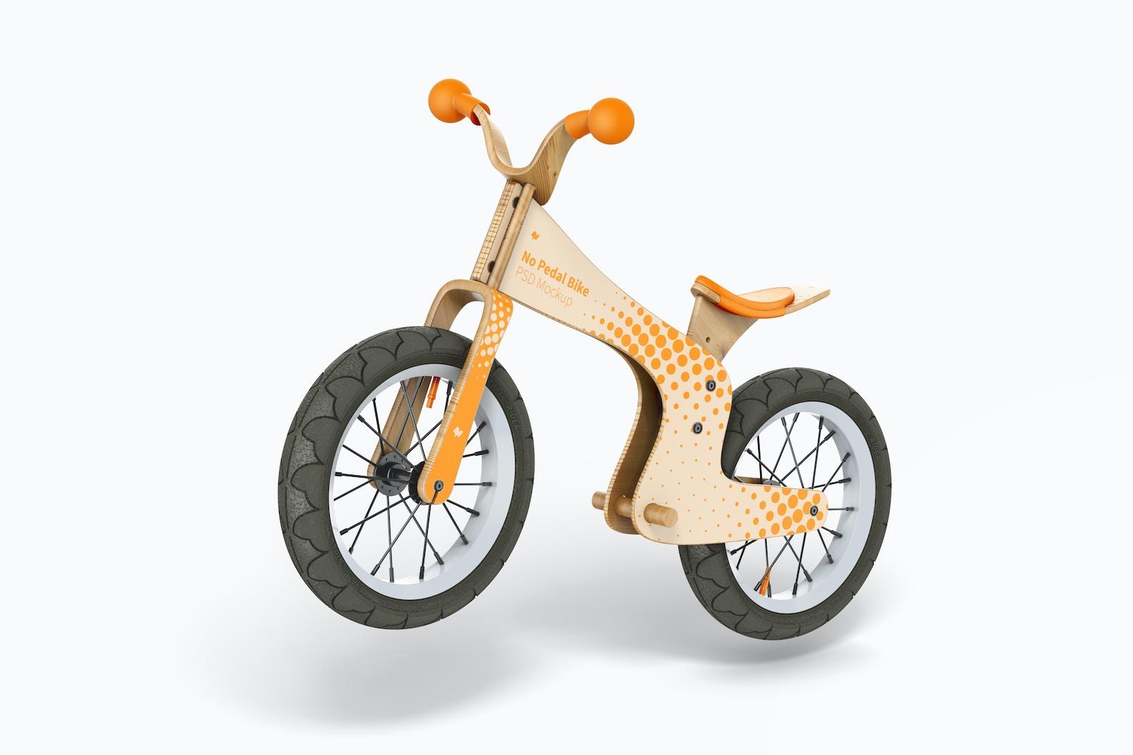 No Pedal Bike Mockup, Falling