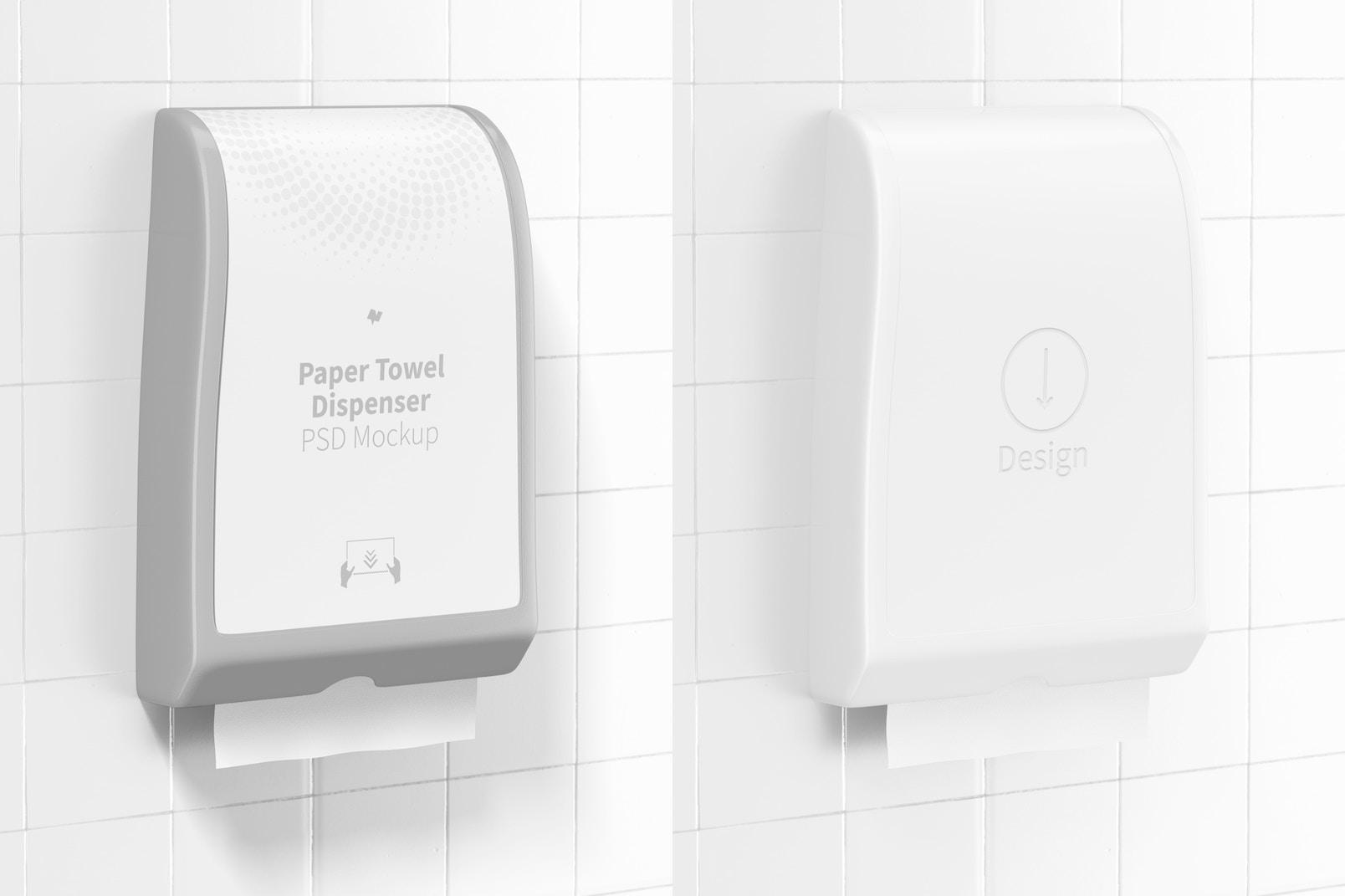 Paper Towel Dispenser Mockup