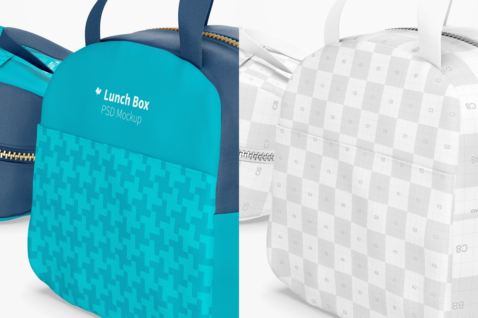 Lunch Bag with Front Pocket Mockup, Close Up