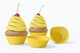 Cupcakes with Silicone Baking Cup Mockup