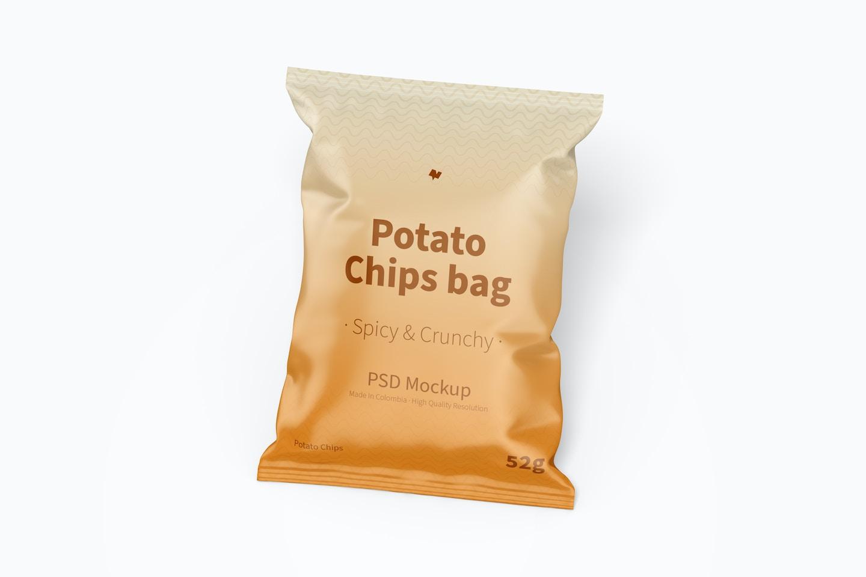 Potato Chips Bag Mockup