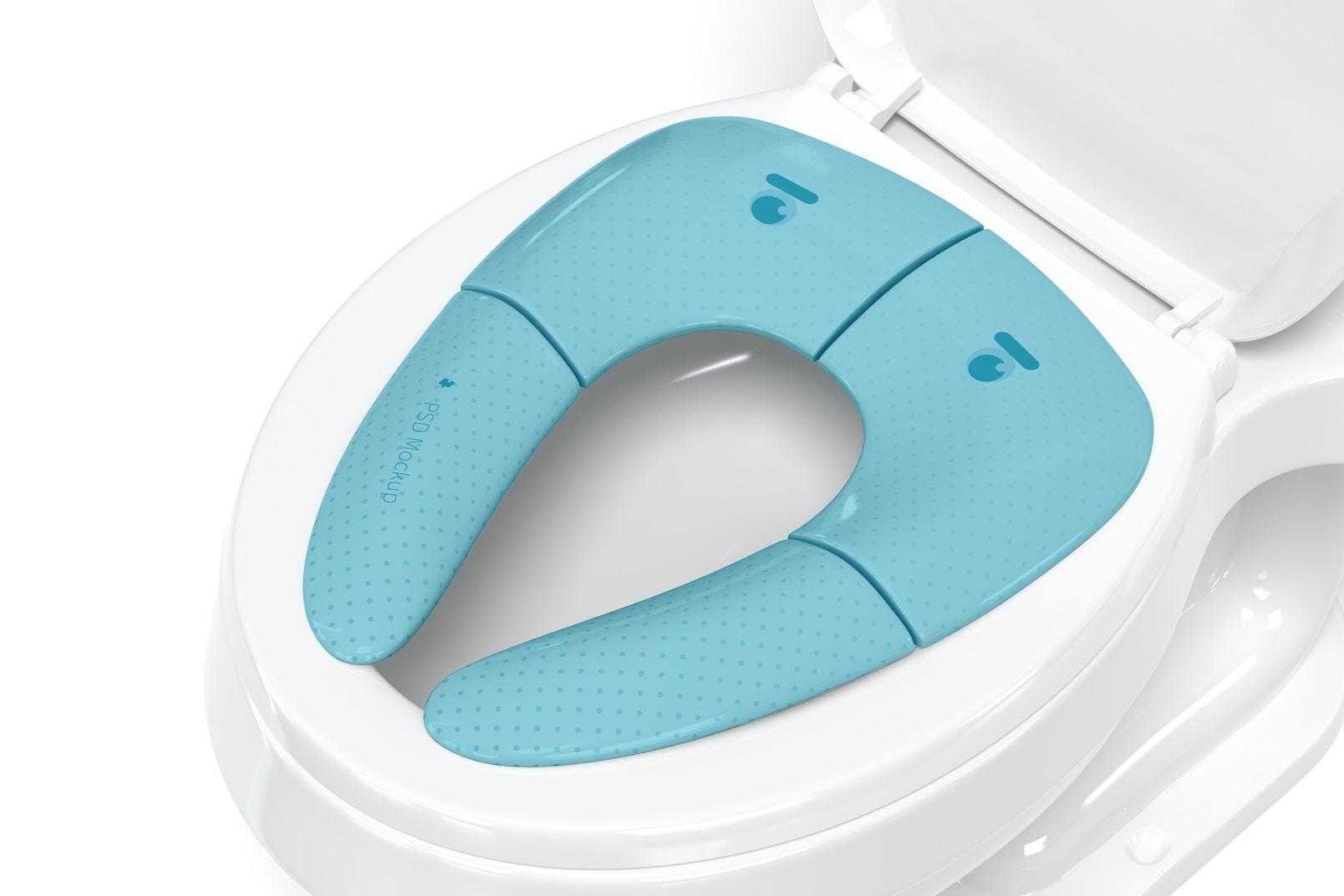 Travel Folding Potty Seat Mockup, Close Up