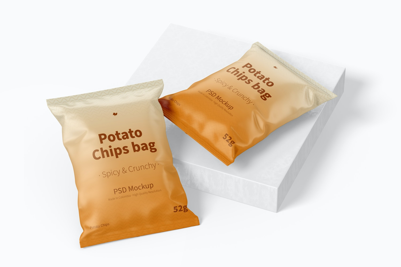 Potato Chips Bags Mockup