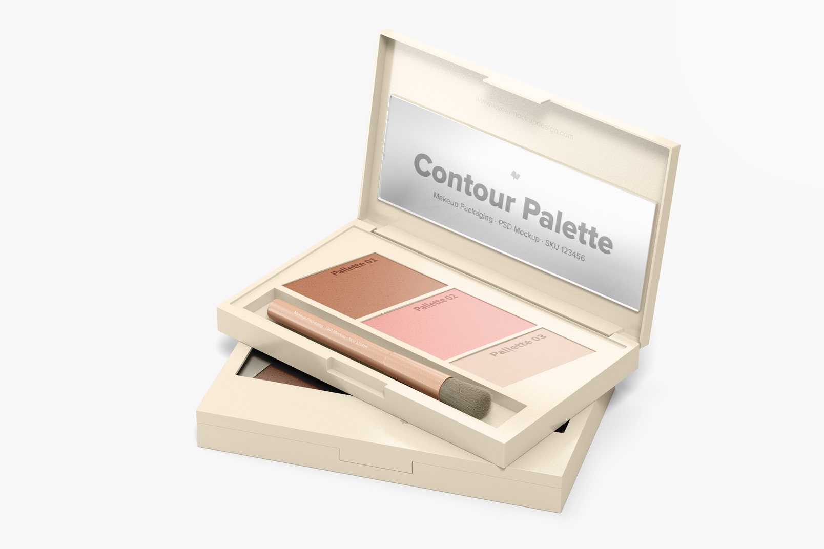 Contour Palettes Mockup, Opened and Closed