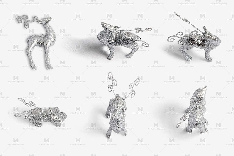 Christmas Reindeer Silver Isolate por Original Mockups en Original Mockups