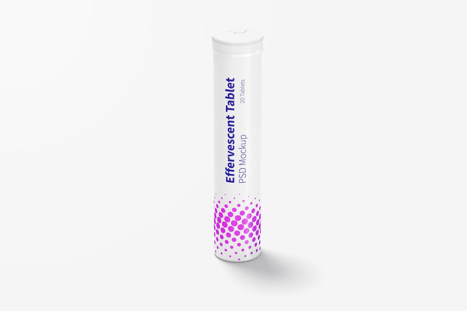 Effervescent Tablet Bottle Mockup