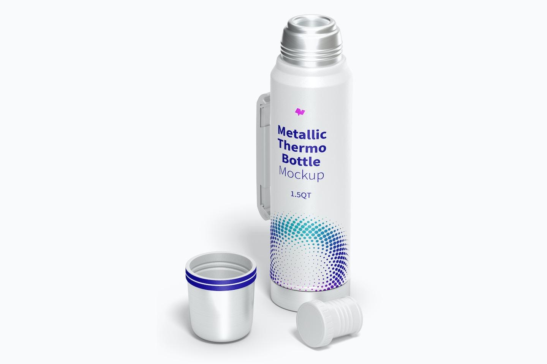 Maqueta de Botella Térmica Metálica