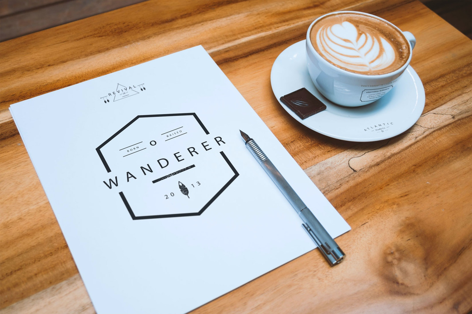 A4 Letterhead and Coffee Cup Mockup