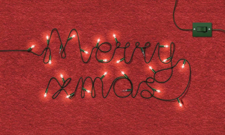 Merry Xmas Lights por Original Mockups en Original Mockups