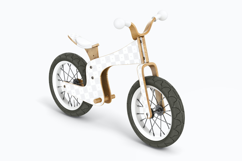 No Pedal Bike Mockup, Perspective