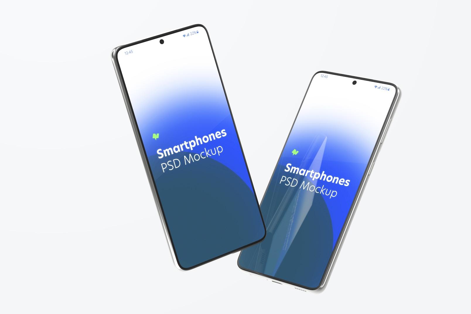 Maqueta de Samsung S21, Flotando