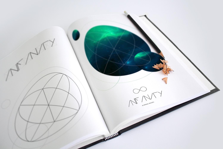 Art Book Mockup 1 por Original Mockups en Original Mockups