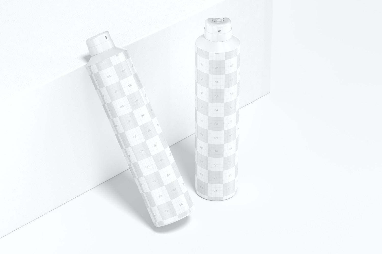 Spray Deodorants Mockup, Perspective