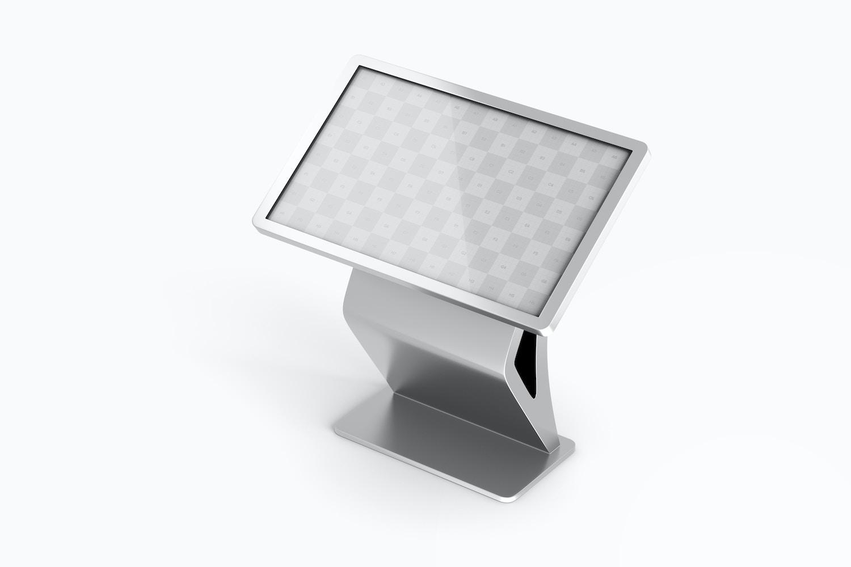 "55"" Floor Stand Digital Mockup, Perspective View"