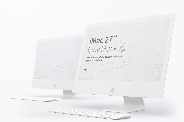 """Maqueta de iMac 27"""" Multicolor 03"""