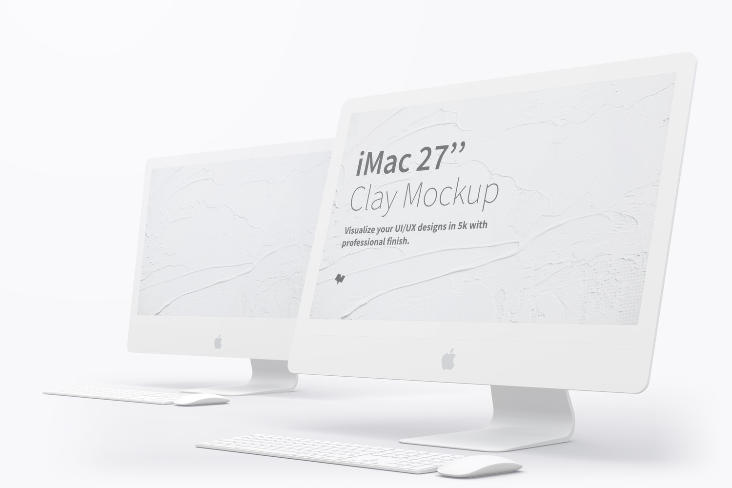 "Clay iMac 27"" Mockup 03 by Original Mockups on Original Mockups"