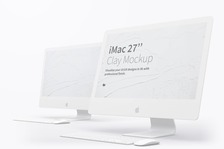 """Maqueta de iMac 27"""" Multicolor 03 (1) por Original Mockups en Original Mockups"""