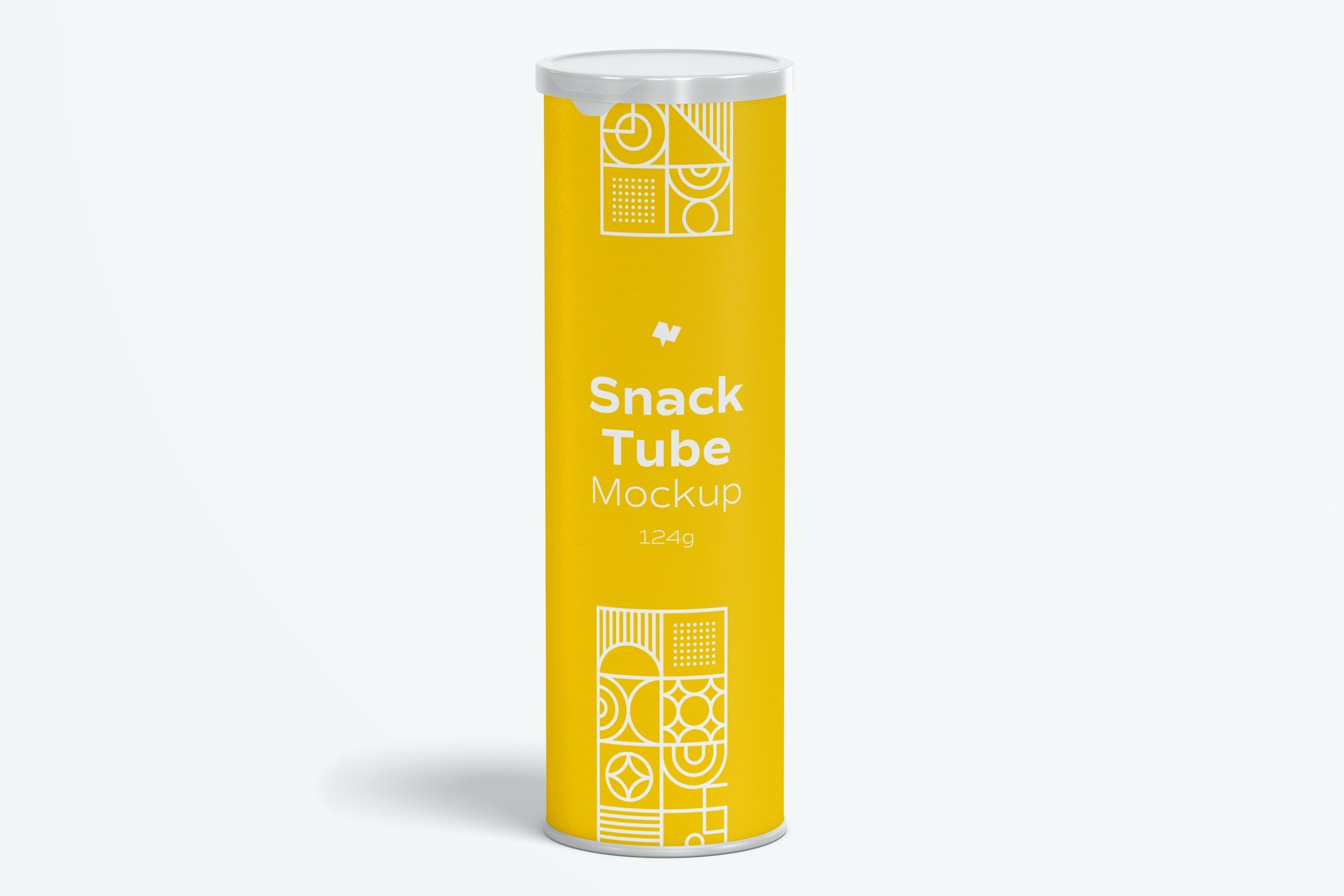 124g Snack Tube Mockup, Front View