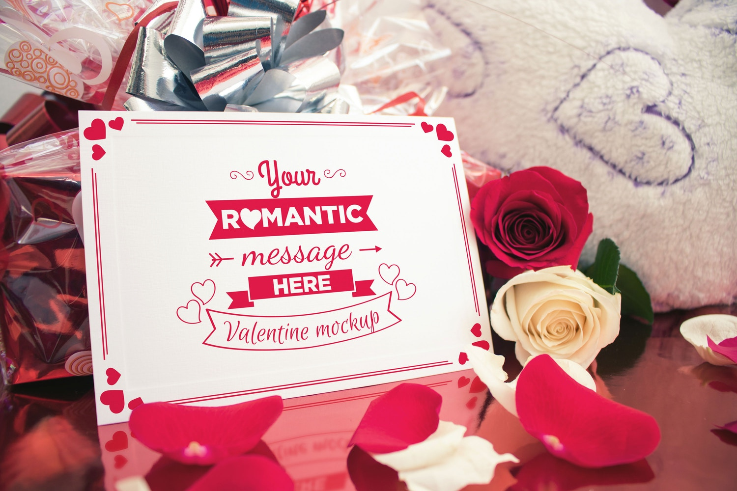 Valentine Card Mockup 01 by Eru  on Original Mockups