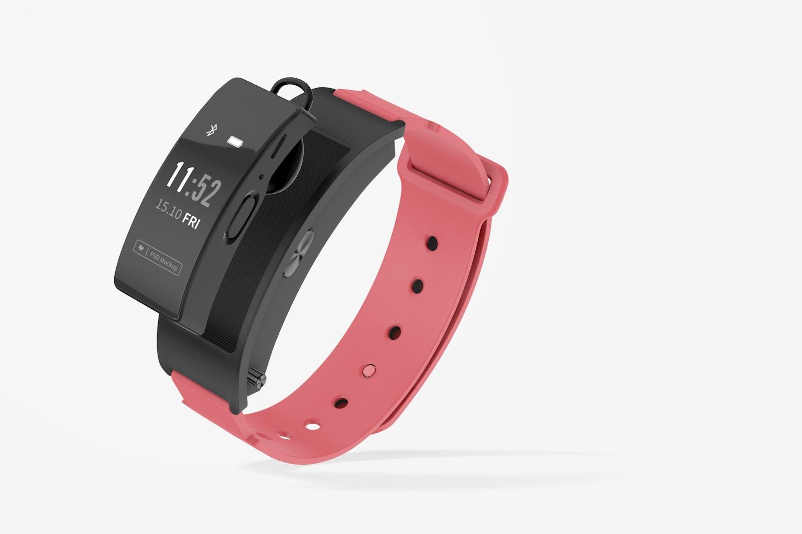 Huawei TalkBand B3 Smartwatch Mockup, Leaned