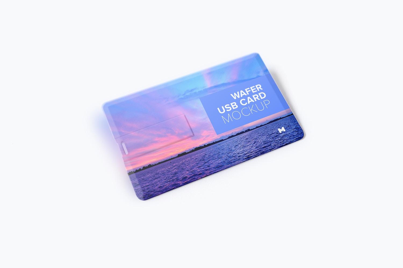 Wafer USB Wallet Card Mockup 01 by Original Mockups on Original Mockups
