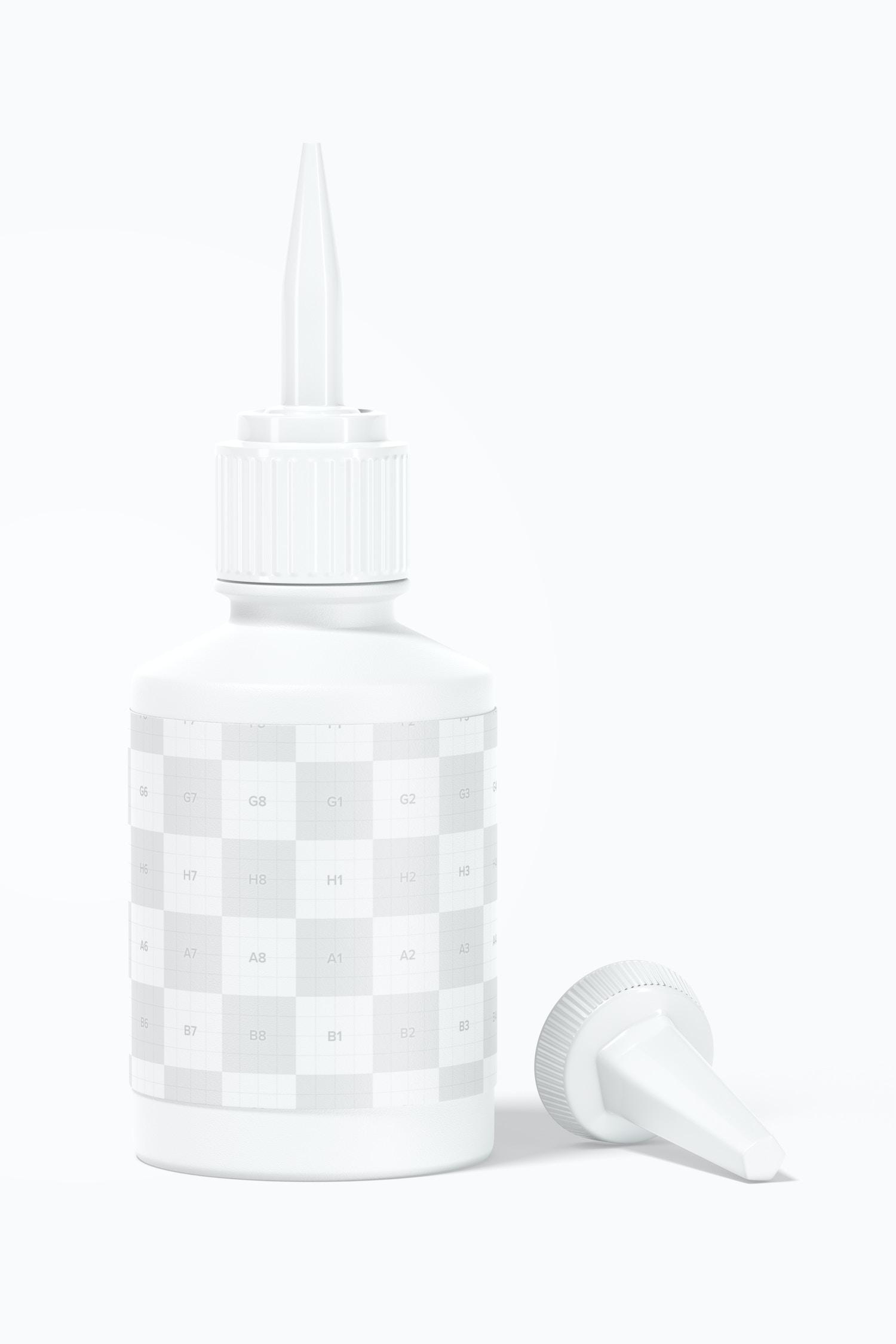 Super Glue Bottle Mockup, Opened
