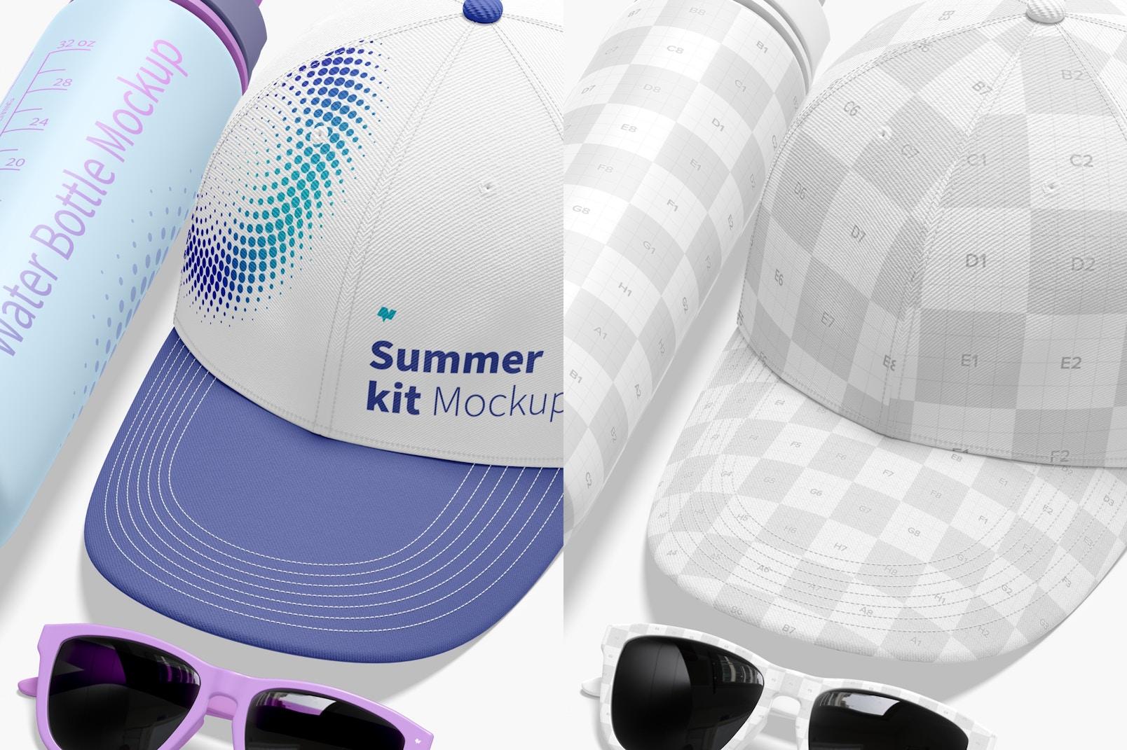 Summer Kit Mockup, Close Up